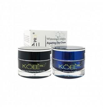 Bộ kem trị nám dưỡng trắng da ngày và đêm Koee Pro