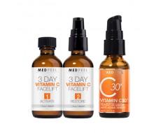 Bộ 3 tinh chất trắng da, chống lão hóa Medpeel Vitamin C 3-Day Facelift Kit