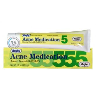 Kem trị mụn trứng cá Rugby Acne Medication Benzoyl Peroxide 5%
