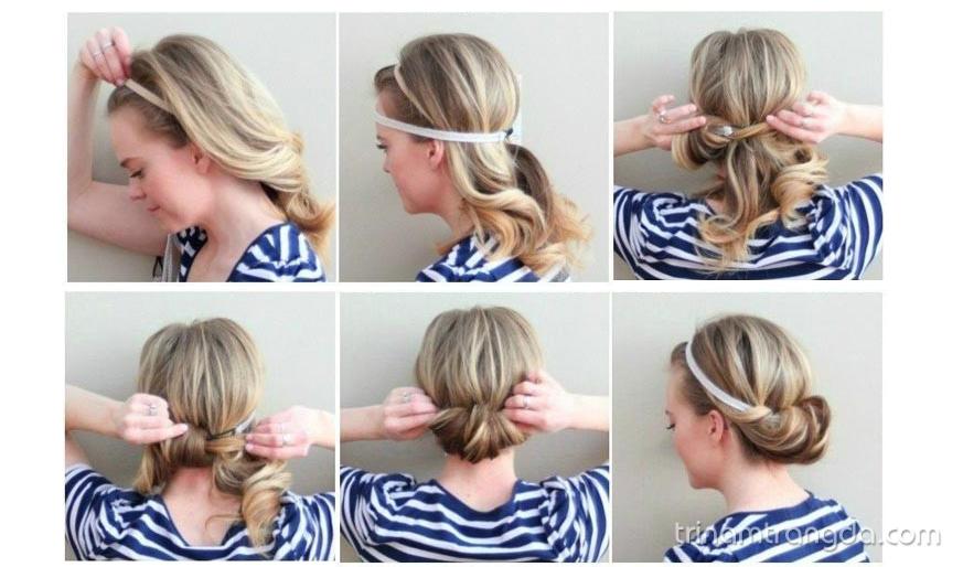 Biến tấu tóc với ruy băng