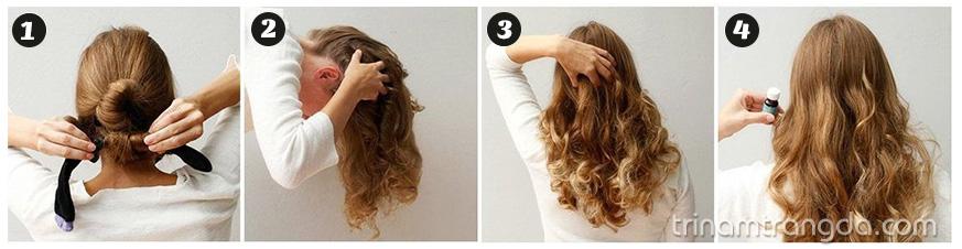 Biến tóc thẳng thành tóc xoăn trong nháy mắt