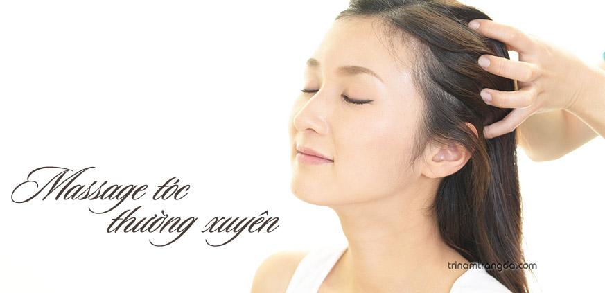 Massage tóc thường xuyên