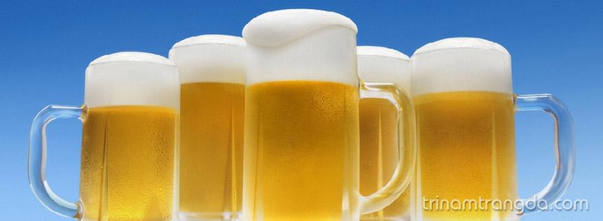Cách phục hồi tóc hư tổn nặng với bia