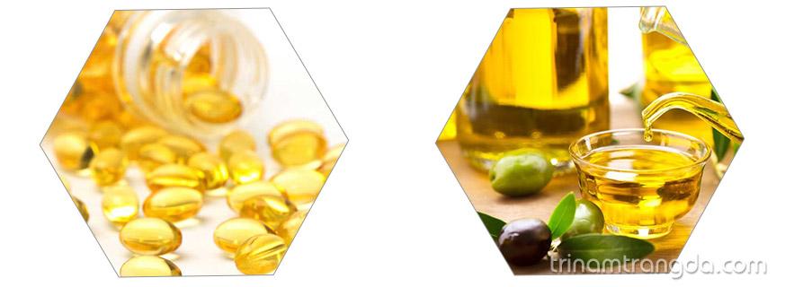 Cách phục hồi tóc hư tổn nặng với vitamin E và dầu oliu