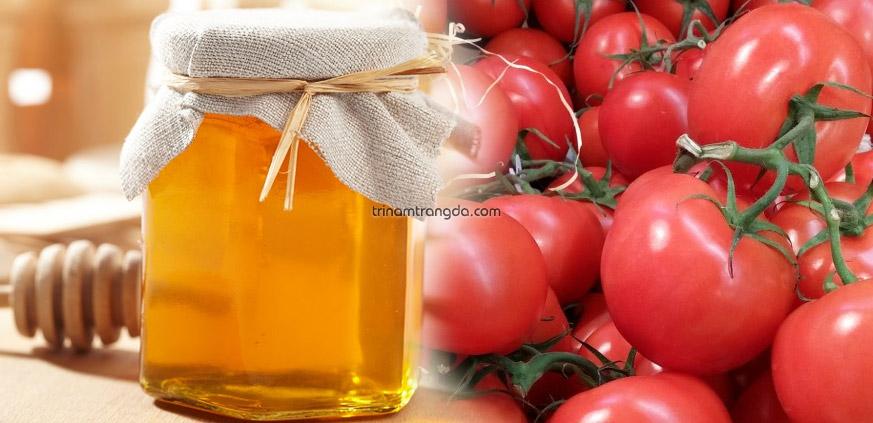 Làm mặt nạ trị nám da bằng mật ong và cà chua