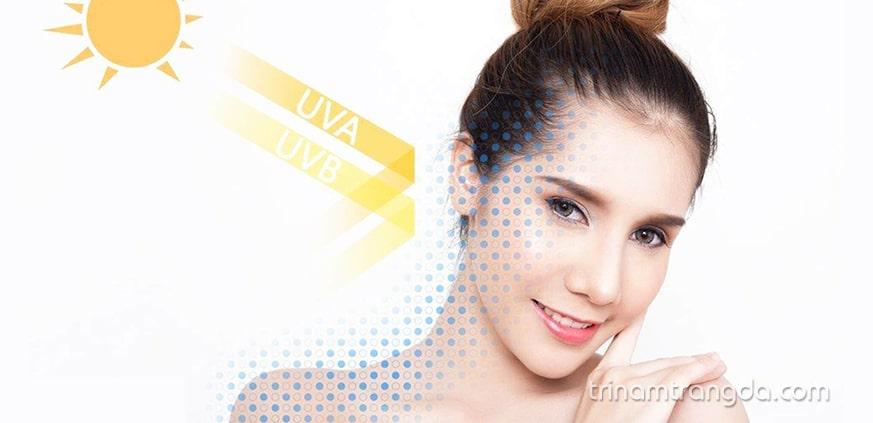 Kem chống nắng ngăn ngừa bức xạ tia UV