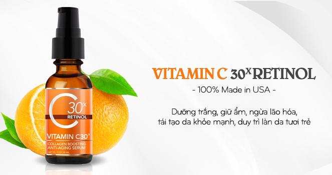 Tinh chất trắng da chống lão hóa Medpeel Vitamin C30x Retinol
