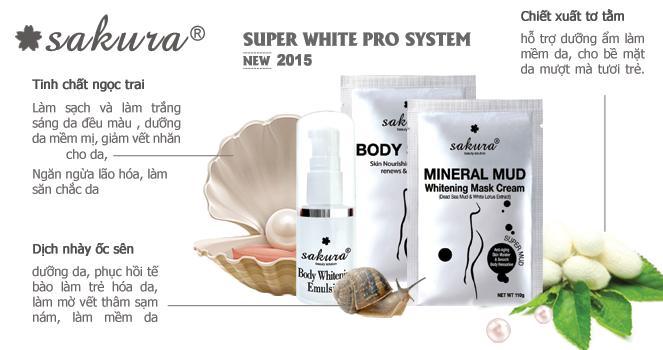 Thành phần thiên nhiên trong bộ kem tắm trắng cao cấp Sakura Super White Pro System