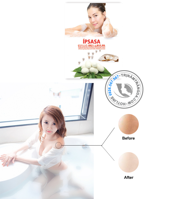 Kem tắm trắng Ipsasa từ ngọc trai và tơ tằm_3