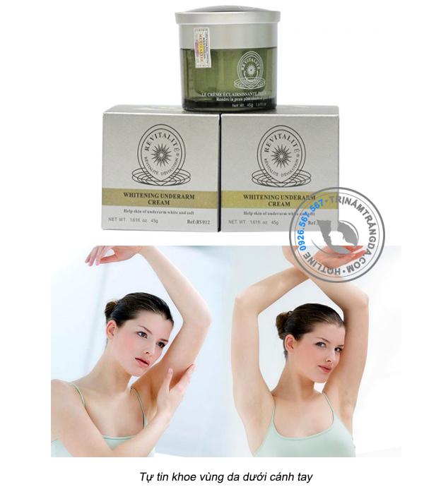 Kem Trắng Da Vùng Nách Revitalie Whitening Underarm Cream