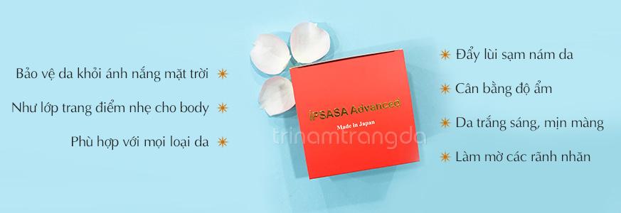 kem dưỡng trắng toàn thân cao cấp ipsasa advanced spf 45