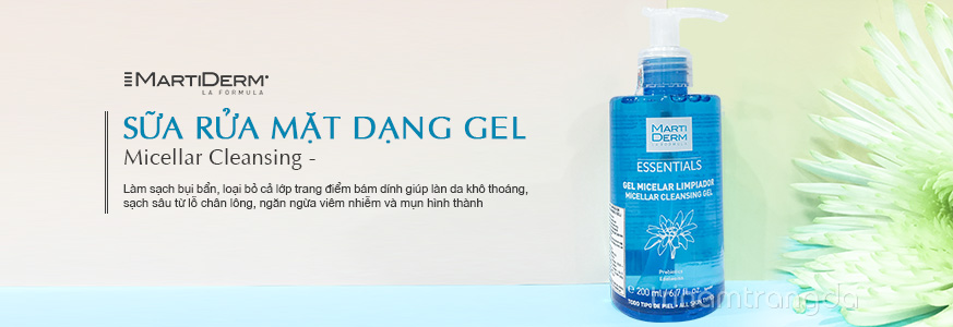 Sữa rửa mặt dạng gel MartiDerm Micellar Cleansing 1