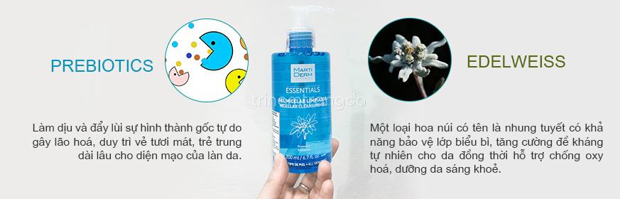 Sữa rửa mặt dạng gel MartiDerm Micellar Cleansing 2