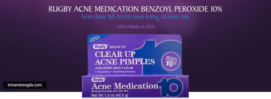 Kem trị mụn, xóa thâm Rugby Benzoyl Peroxide 10% 1