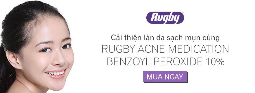 Kem trị mụn, xóa thâm Rugby Benzoyl Peroxide 10%  2