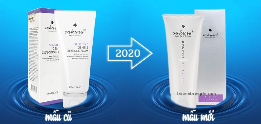 Mẫu mới 2020 - Sữa rửa mặt Sakura cho da nhạy cảm
