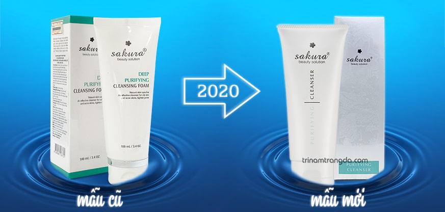 Mẫu mới 2020 - Sữa rửa mặt dành cho da mụn Sakura