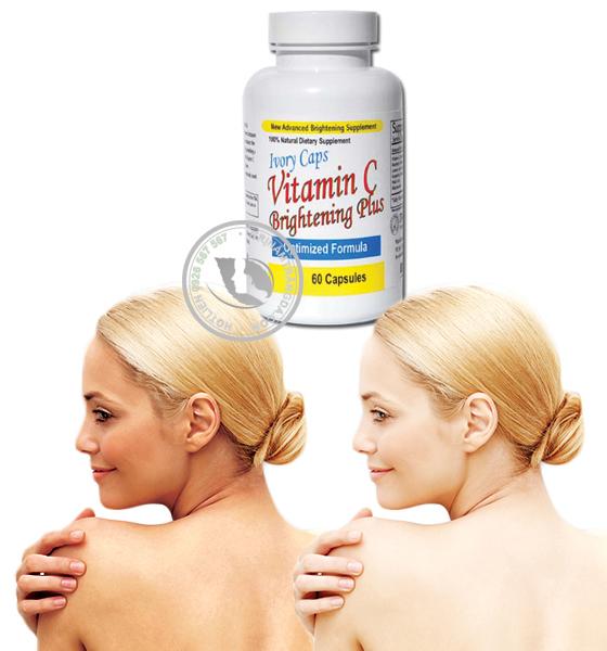 Viên Uống Trị Nám Ivory Caps Vitamin C Plus