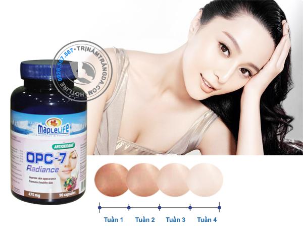 Viên uống trắng da ngăn ngừa lão hóa OPC -7 Radiance Maplelife 3
